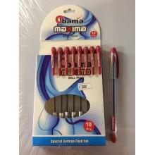 Ручка Maxima, Obama, красный, 1шт-55тг