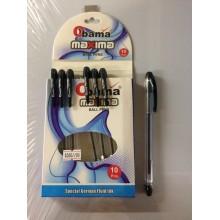 Ручка Maxima, Obama, черный, 1шт-55тг