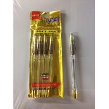 Ручка Classic Gold, Cello, 0.5mm, золотой корпус,1шт-45тг