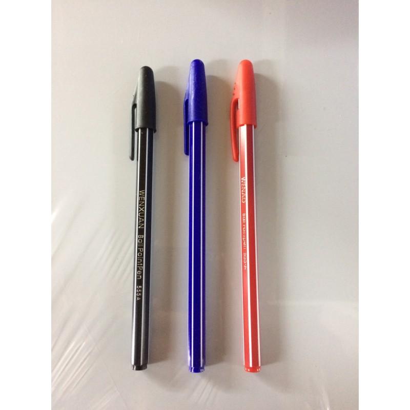 Ручка Ball PointPen 555A,черн.,крас.,син.,1шт-15тг