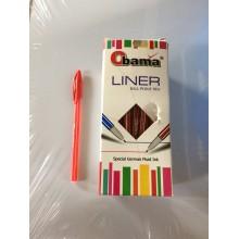 Ручка Obama, Linear, крас., черн., син., 1шт-30тг