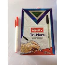 Ручка Tri-More, Montex, 1.0mm, красный, 1шт-50тг