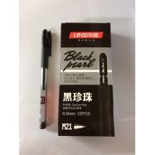 Ручка Black Pearl, M21, 0.5 mm, черный, гелевый, 1шт-85тг
