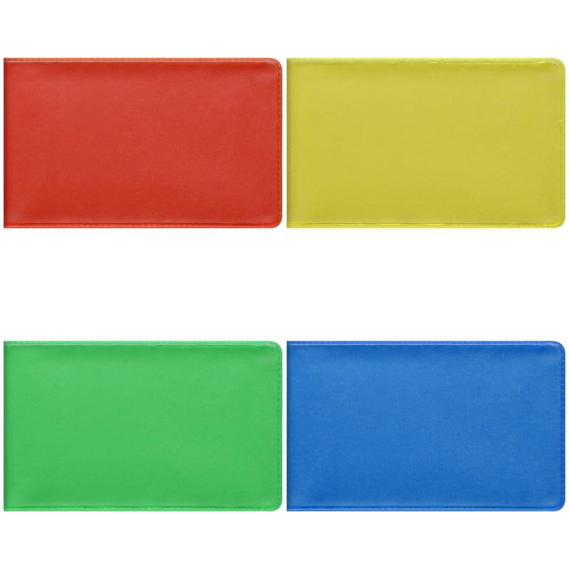 Визитница карманная OfficeSpace на 20 визиток, 65*110мм, ПВХ, ассорти
