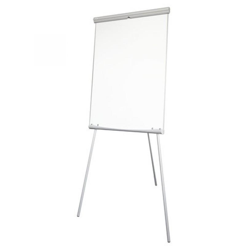 Доска белая для флипчарта, магнитно-маркерная, на подставке 70*100 см