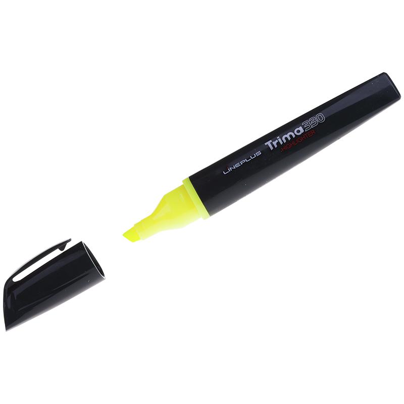 """Текстовыделитель Line Plus """"Trima330"""" желтый, 1-5мм, трехгранный корпус"""