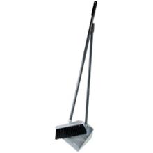 "Комплект для уборки пола OfficeClean ""Professional"" (щетка+совок+2 ручки 80см), пластик, хром"