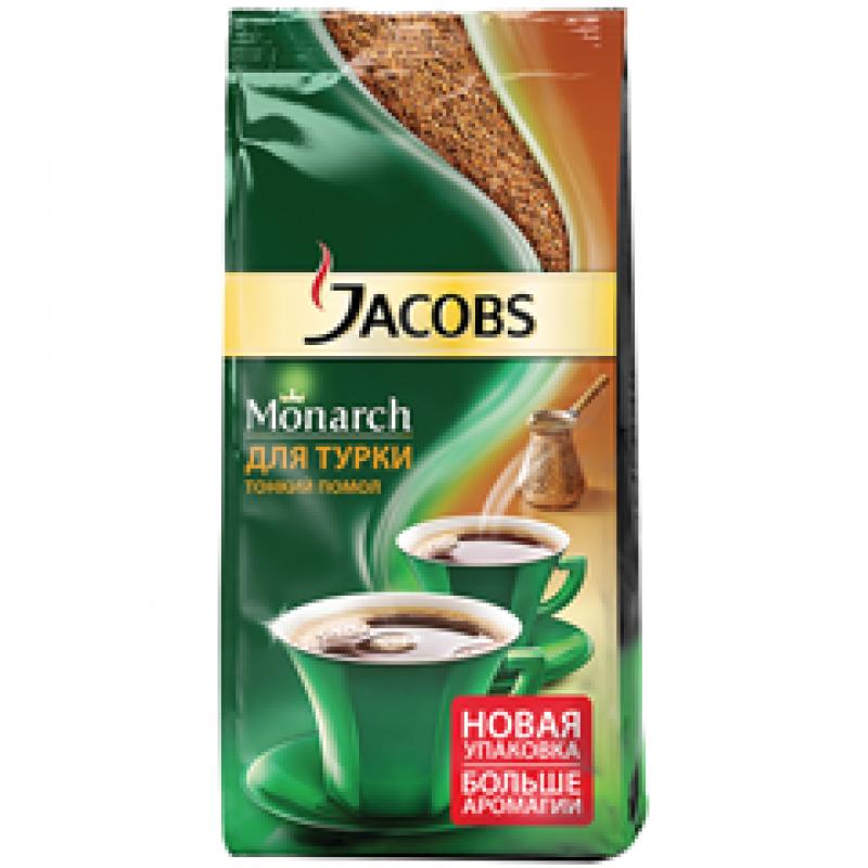 """Кофе молотый Jacobs """"Monarch"""", вакуумный пакет, для турки, 150г"""