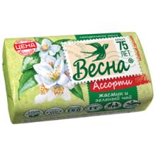 """Мыло туалетное Весна """"Жасмин и зелёный чай"""", бумажная обертка, 90г"""