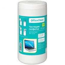 Салфетки чистящие влажные OfficeClean, для мониторов всех типов, в тубе, 100шт.