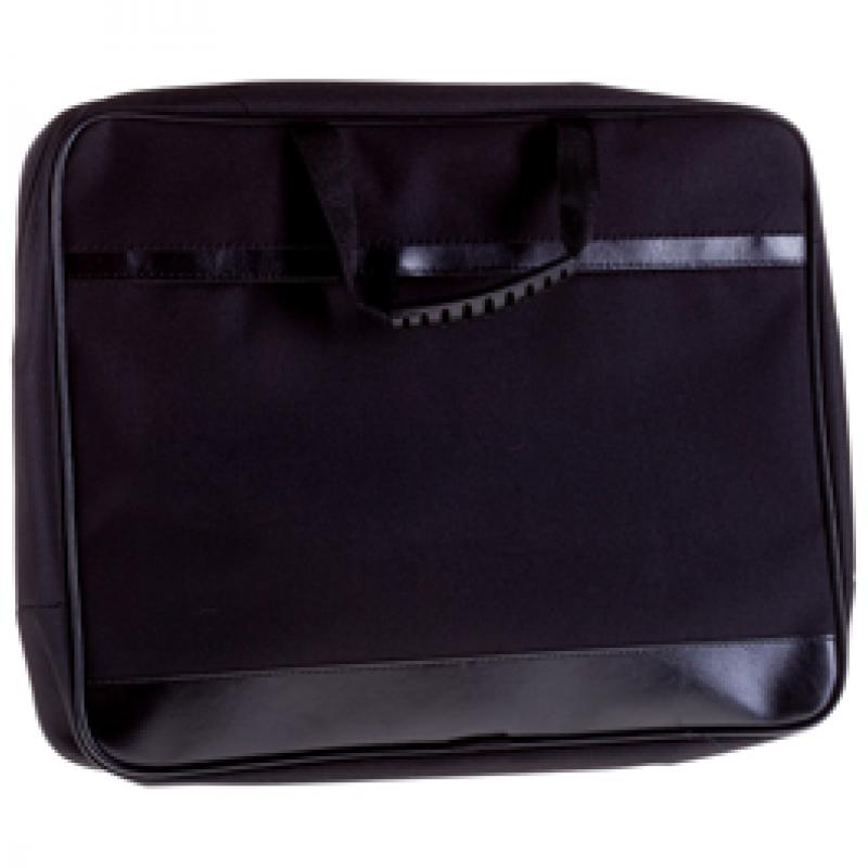 """Сумка деловая OfficeSpace """"Ancona"""" ткань, черный, 2 отделения, молния"""