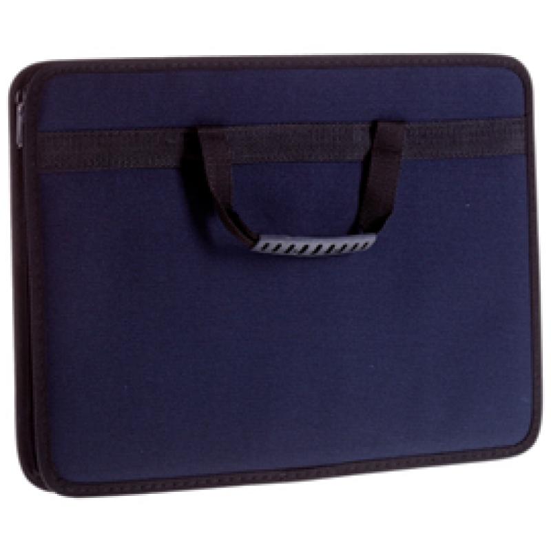 """Сумка деловая OfficeSpace """"Florentia"""" ткань, синий, 1 отделение, молния"""