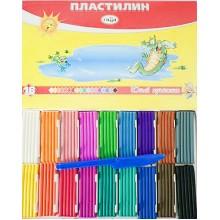 Пластилин, 18 цв.,252 г.,  в карт. упак, Юный Художник, ГАММА