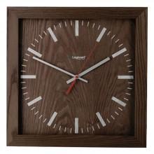 Часы настенные, деревянные, квадратные, темно-коричневые, большие