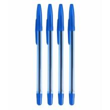 Ручка шариковая, 0.7мм, синяя, прозр. корпус, РШ-111 ОФИС, СТАММ