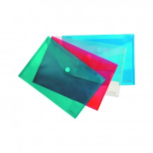 Папка конверт на липучке, А4, прозрачная, ENVELOPE FOLDER, ассорти, ERICH KRAUSE