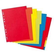 Разделитель картонный, А4, 1-12, цветной, DELI