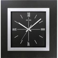 Часы настенные, стекло, квадратные, черные, большие