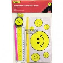 """Набор чертежный, 5 предм., детский (5 предметов) """"Proff Smile"""" в индивидуальной упаковке с европодве"""