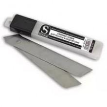 Лезвия запасное для ножа, 18мм, в наборе 10 лезвий, DELI