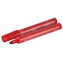 Маркер перманентный, красный, 1-4мм, кругл. наконечник, тонкий корпус. INDEX