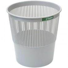 Корзина для мусора, 9л, сетчатая, серая, СТАММ