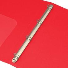 Папка на 4-х кольцах с кармашком, 7,62 см, DELI