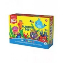 Пластилин мягкий, набор Пластилиновая игра, 6 цв + формочки, ERICH KRAUSE