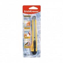 Нож канцелярский UNIVERSALD, 9мм, желтый, ERICH KRAUSE