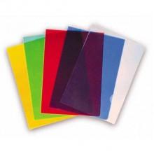 Папка-уголок А4 Deli, пластиковая, 250 мкм, ассортти, в упаковке 5 штук, цена за штуку