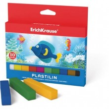 Пластилин, 10 цв*15гр, для детей, европодвес, ERICH KRAUSE