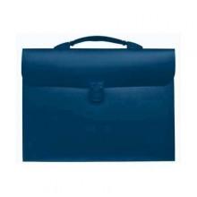 Папка портфель на резинках, 13 деления, синий. SPONSOR