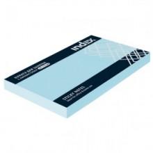 Постики  75х51 мм, 100лист, голубой. INDEX