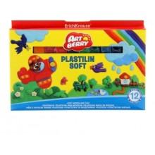 Пластилин, 12 цв*15гр, для детей, европодвес, ERICH KRAUSE