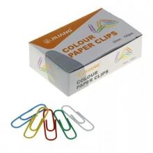 Скрепки канцелярские 50мм, цветные, 100 шт, в картонной упаковке, DELI