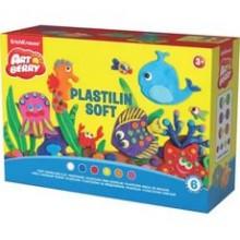 Пластилин мягкий, 6 цв*50гр, для детей, постельные цвета, ERICH KRAUSE