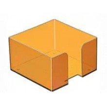 Пластбокс для блока  бумаги для записи 9*9*5,  оранжевый манго, СТАММ