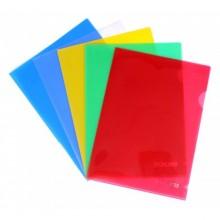 Уголок пластиковый,  А4, прозр., 150мкр., ассорти. SPONSOR
