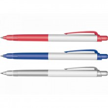 Ручка шариковая, автомат, синия, 0,7мм, DELI