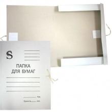 Папка на завязках, белая, 280г/м2, картон. SPONSOR