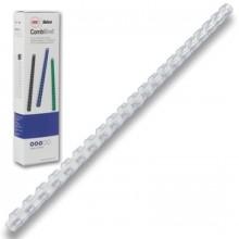 Пружины для переплета пластиковые, 6 мм, цв. белый