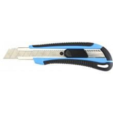 Нож канцелярский, 18мм, длина 100мм, цвет ассорти, DELI