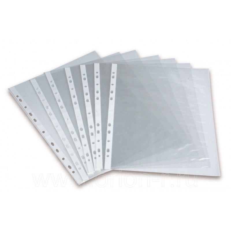 Файл-вкладыш А4, 80 мкм, глянцевый, перфорированный, 100 штук в упаковке, цена за штуку