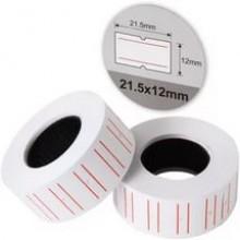 Этикетки (ценники) 21*12мм 500 эт/рулоне