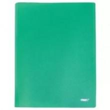 Папка с 40 файлами, зелёная, А4, пластик, 0.45мм