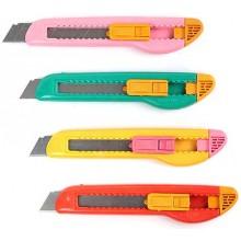 Нож канцелярский, 18мм, ассорти. SPONSOR