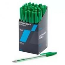 """Ручка гелевая, 0.5 мм зеленая """"Proff"""" с резиновым держателем"""