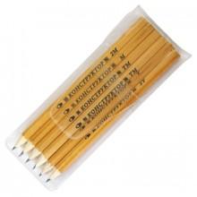 """Набор простых карандашей, 3шт(Т,ТМ,М), в пласт. уп. с европодвесом """"Конструктор"""", заточенные"""
