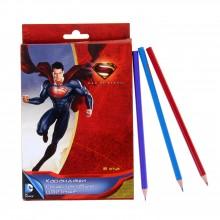 """Карандаши цветные, 18 цв. в наборе, Супермен"""" в картонной коробке с европодвесом"""