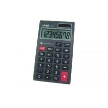 Калькулятор карманный UNIEL UK-23, 8 разрядный, размер 111*65*9 мм.